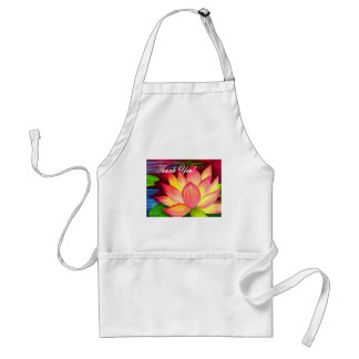 Pink Lotus Water Lily Flower Thank You - Multi Aprons