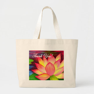 Pink Lotus Water Lily Flower Thank You - Multi Bags
