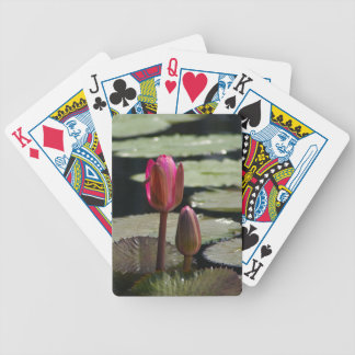 Pink Lotus Waterlily and Lily Pads Playing Cards