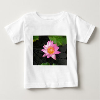 Pink Lotus Waterlily Baby T-Shirt