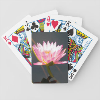Pink Lotus Waterlily Bicycle Playing Cards