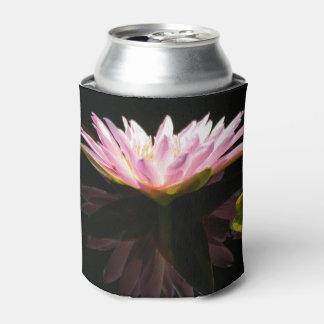 Pink Lotus Waterlily Can Cooler