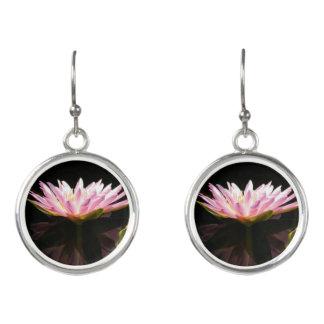 Pink Lotus Waterlily Earrings