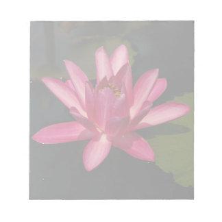 Pink Lotus Waterlily Flower Notepad