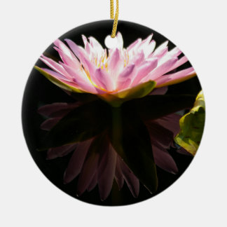 Pink Lotus Waterlily Ornament