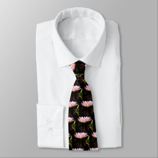 Pink Lotus Waterlily Tie