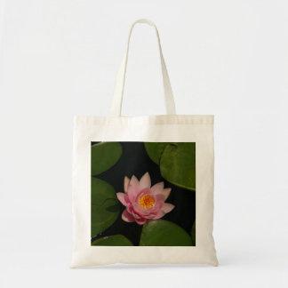 Pink Lotus Waterlily Tote Bag