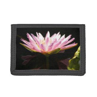 Pink Lotus Waterlily Tri-fold Wallets