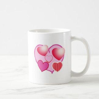 Pink Love Expression - Hearts Basic White Mug