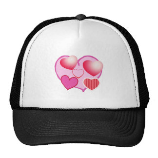 Pink Love Expression - Hearts Trucker Hat