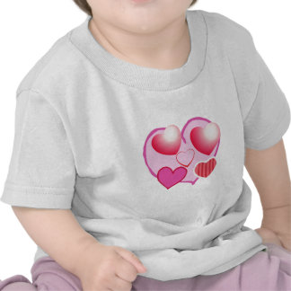 Pink Love Expression - Hearts T-shirt