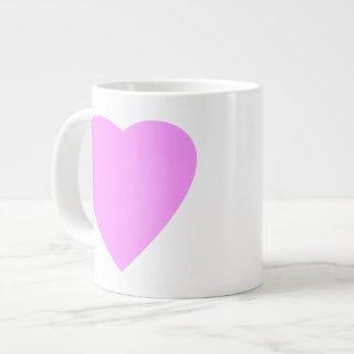Pink love heart on white. jumbo mug