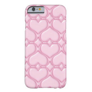 Pink Love hearts textures Barely There iPhone 6 Case