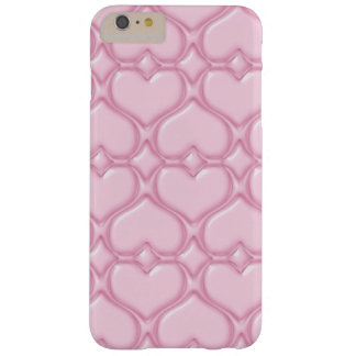 Pink Love hearts textures Barely There iPhone 6 Plus Case