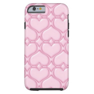 Pink Love hearts textures Tough iPhone 6 Case