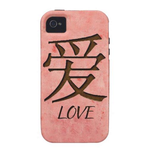 Pink Love iPhone 4/4S Case Mate Tough