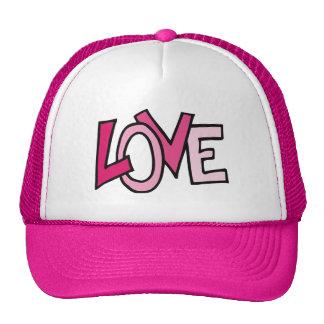 Pink love letters design illustration cap