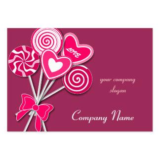 Pink love Lollipop Candy Shop Bakery Business Card