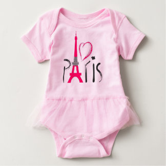 Pink love Paris Baby Bodysuit