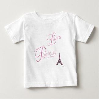 Pink-Love-Paris-Eiffel-Tower-Unique Baby T-Shirt