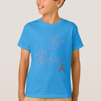 Pink-Love-Paris-Eiffel-Tower-Unique T-Shirt