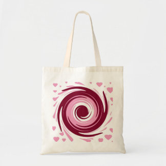 Pink Love Small Tote Canvas Bag