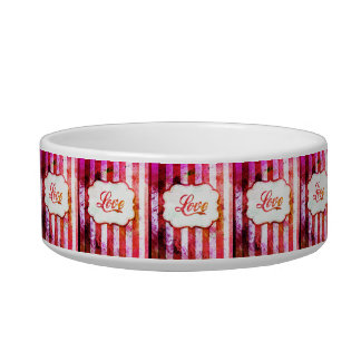 Pink Love with Stripes Bowl