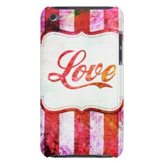 Pink Love with Stripes iPod Touch Case