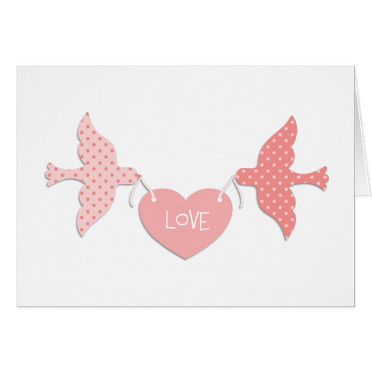 Pink Lovebirds Card