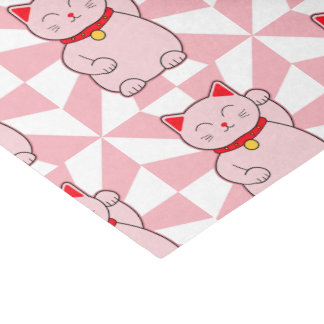 Pink Lucky Cat Tissue Paper