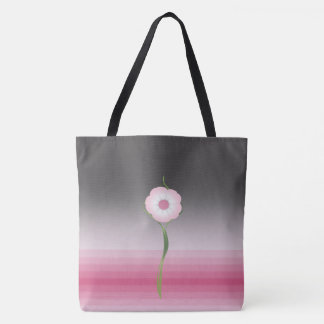 pink luna moonflower salutation tote bag