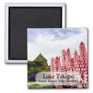 Pink Lupins @ Lake Tekapo New Zealand Magnet