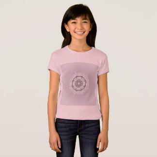 Pink luxury t-shirt with Mandala art