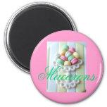 Pink Macarons Fridge Magnet