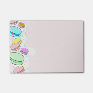 "Pink Macaroons 4 x 3"" Post-It Notes"