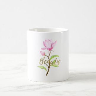 Pink Magnolia Flower Beauty Coffee Mug