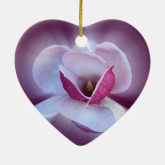 pink magnolia shades ceramic heart decoration