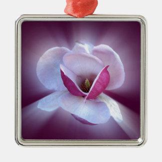 pink magnolia shades Silver-Colored square decoration