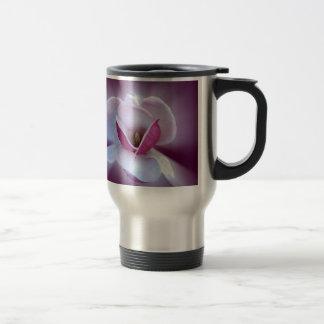 pink magnolia shades travel mug