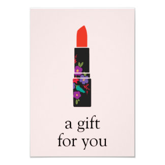Pink Makeup Artist Lipstick Gift Certificate Card