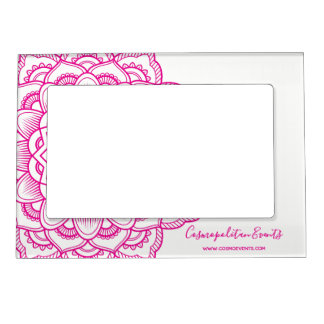 Pink Mandala Magnetic Picture Frame