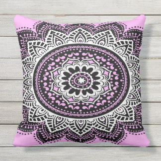 Pink Mandala Outdoor Cushion