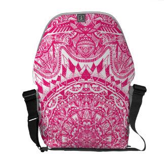 Pink mandala pattern courier bag