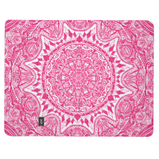 Pink mandala pattern journal