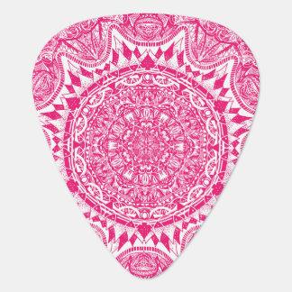 Pink mandala pattern plectrum