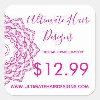 Pink Mandala Price Square Sticker