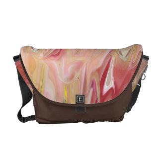 Pink Marble Abstract Rickshaw Messenger Bag
