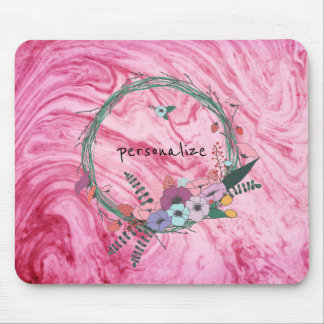 pink marble beautiful texture pattern personalize mouse pad