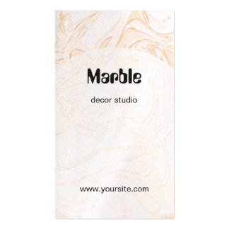 """Pink """"Marble"""" decor studio Pack Of Standard Business Cards"""