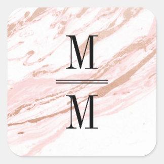 Pink Marble Modern Elegant Stickers